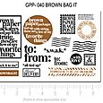 GPP-040 BROWN BAG IT