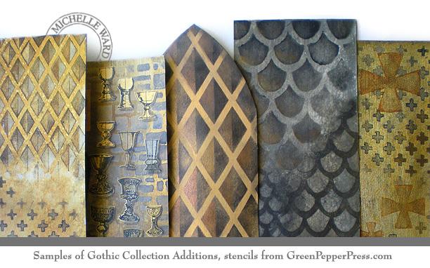 GPP Gothic2 MW sample stencils