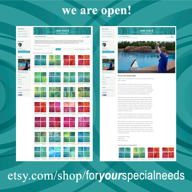 SAM shop opening ETSY April 2016