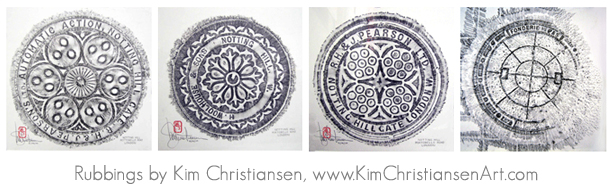 Kim Christiansen Art rubbings