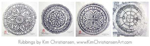 Kim Christiansen Art rubbings