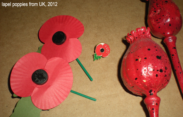 MW lapel poppies