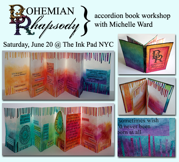 MW Bohemian Rhapsody workshop INK PAD