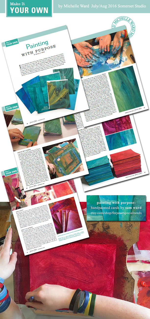 Michelle Ward Somerset Studio JulyAugust2016 Painting with Purpose