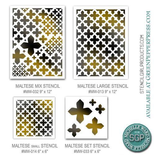 Maltese motif stencils