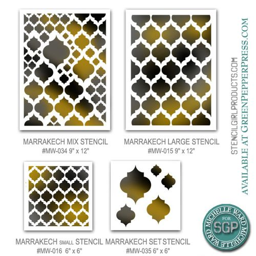 Marrakech motif stencils